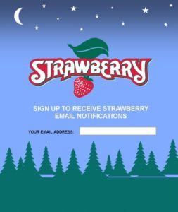 sign up for strawberry s new email list strawberry music festival